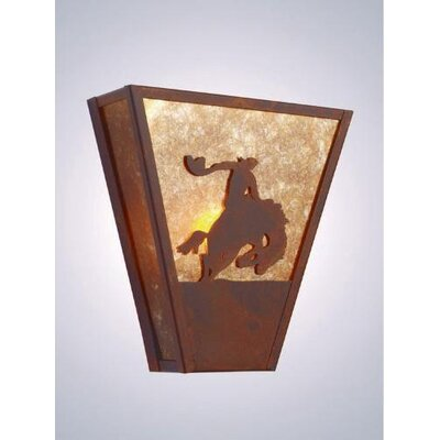 Steel Partners 8 Seconds Vegas 1 Light Wall Sconce