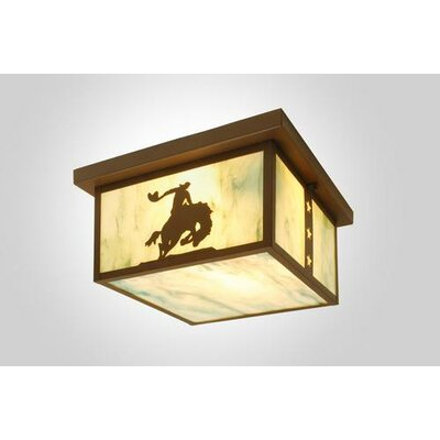 Steel Partners 8 Seconds 1 Light Squaroka Flush Mount