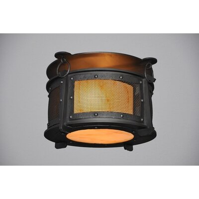 Steel Partners Rogue River 1 Light Harstene Mesh Flush Mount