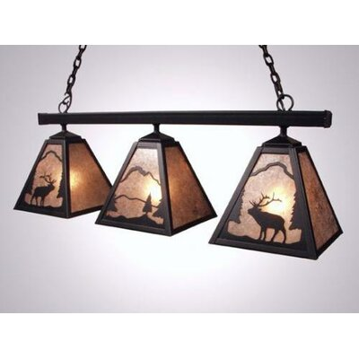 Steel Partners Elk Triple Anacosti Light Pendant