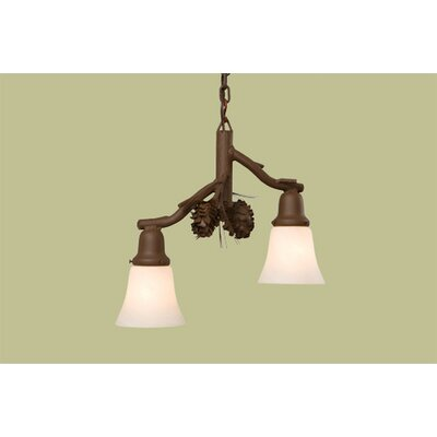Steel Partners Ponderosa Pine Glacier 2 Light Pendant