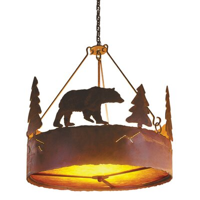 Steel Partners Bear 3 Light Pendant