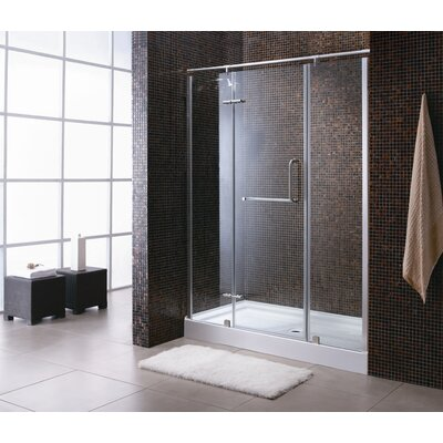 Ove Decors Paris Pivot Door Shower Enclosure and Base Set