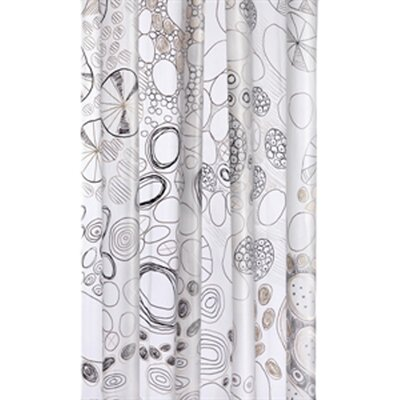 Croydex Abstract PEVA Shower Curtain