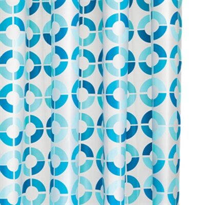 Mosaic Rings PEVA Shower Curtain