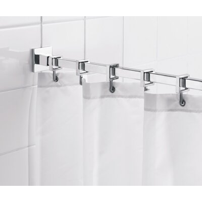 "Croydex Square 98"" Max Shower Rod with Curtain Hooks"