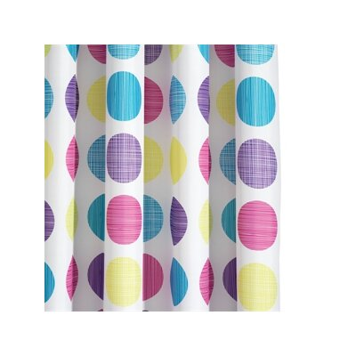 Croydex Textured Dots Polyester Textile Shower Curtain