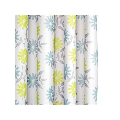 Croydex Scribble Flower Polyester Textile Shower Curtain