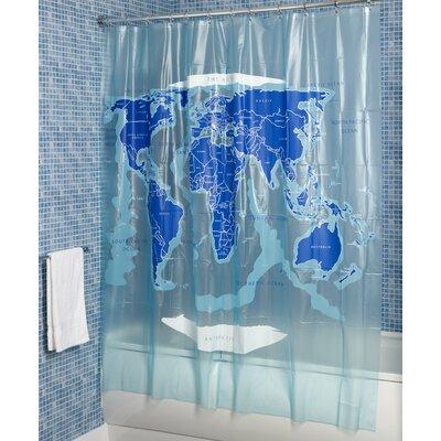 Croydex World Map Vinyl Shower Curtain Amp Reviews Wayfair