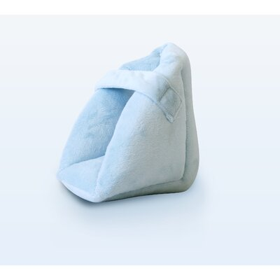 NYOrtho Quilted Heel Protector with Ultra-Soft Velvet in Light Blue