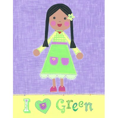 The Little Acorn Green Girl - Starla Canvas Art