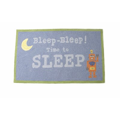 The Little Acorn Bleep-Bleep Robot Kids Rug