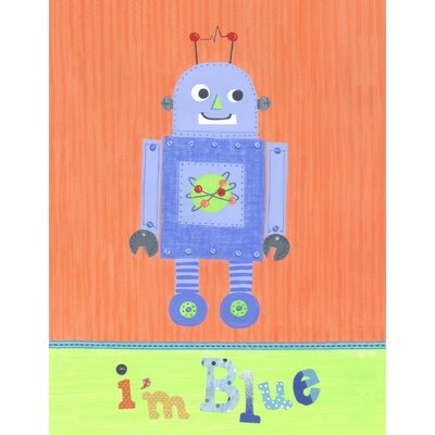 The Little Acorn I'm Blue Robot Wall Art
