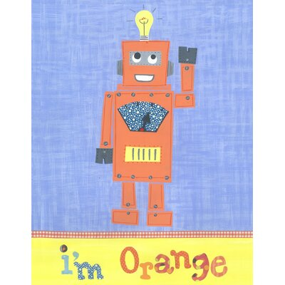 The Little Acorn I'm Orange Robot Canvas Art