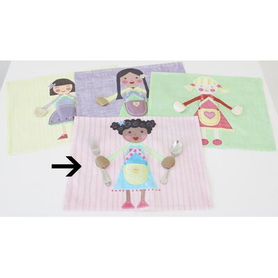 The Little Acorn Blue Girl Placemat
