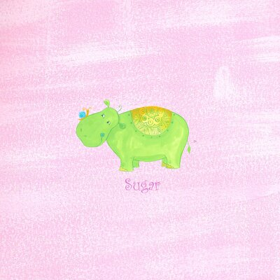 The Little Acorn Alphabet Adventure Sugar Hippo Wall Art