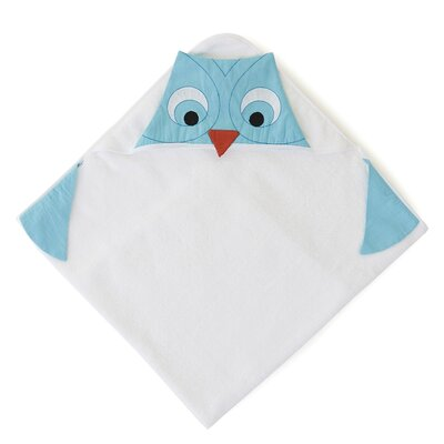 The Little Acorn Funny Friends Owl Hooded Towel