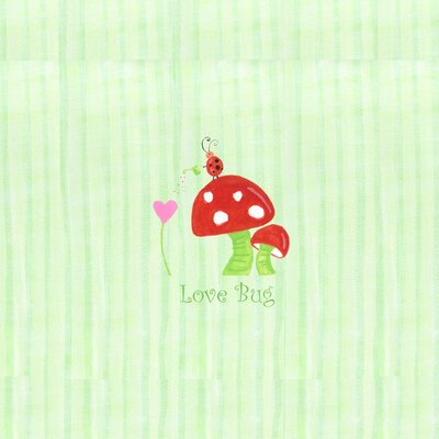 Alphabet Adventure Love Bug Mushroom Wall Art