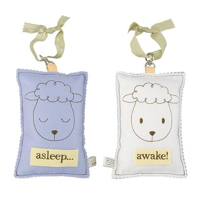 Tree by Kerri Lee Sheep Asleep / Awake Sign in Distressed Blue