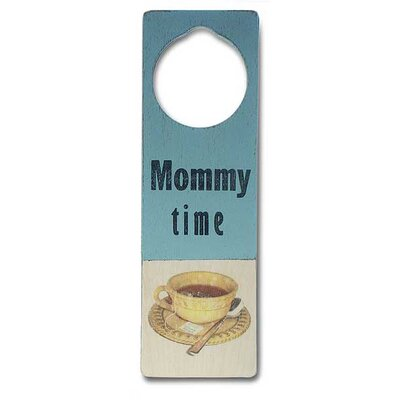 "Tree by Kerri Lee ""Mommy Time"" Wooden Doorknob Sign"