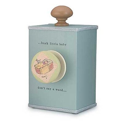 "Tree by Kerri Lee ""Hush Little Baby"" Wind Up Music Box in Distressed Turquoise"