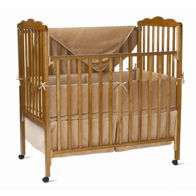 3 Piece Organic Cotton Velour Mini Crib Bedding Set