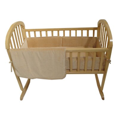 American Baby Company Three Piece Organic Cotton Velour Cradle Set