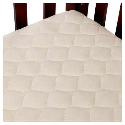Organic Quilted Portable Crib Mattress Pad Fitted