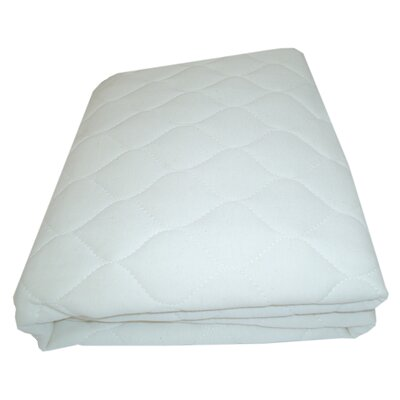 Organic Quilted Crib and Toddler Mattress Pad Fitted