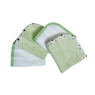 Organic Terry Wash Cloths in Celery (Set of 4)