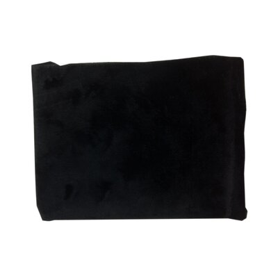 Heavenly Soft Chenille Contoured Changing Table Cover in Black