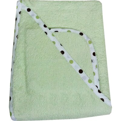 <strong>American Baby Company</strong> Organic Terry Hooded Towel Set in Celery