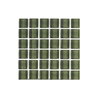 "Interceramic Shimmer 12"" x 12"" Glossy Mosaic in Forest"