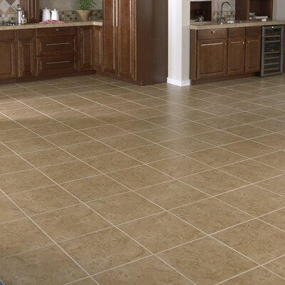 "Interceramic Bruselas 13"" x 13"" Ceramic Floor Tile in Noce"