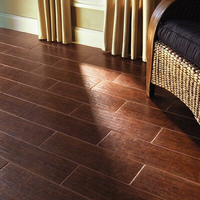 Colonial Wood 20 X 6 Ceramic Floor Tile In Mahogany