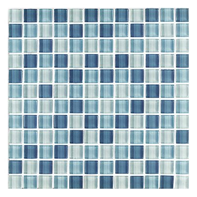 "<strong>Interceramic</strong> Shimmer Blends 12"" x 12"" Glossy Mosaic in Arctic"