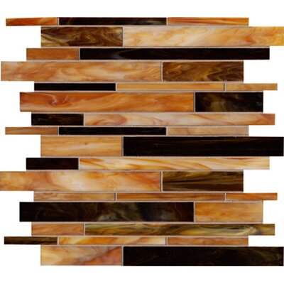 "Marazzi Catwalk 12"" x 12"" Random Glass Mosaic in Chocolate Clog"
