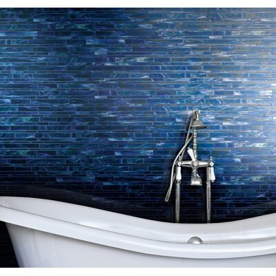 "Marazzi Catwalk 12"" x 12"" Random Glass Mosaic in Blue Ballet"