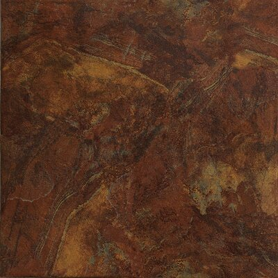 "Marazzi Imperial Slate 16"" x 16"" Field Tile in Rust"