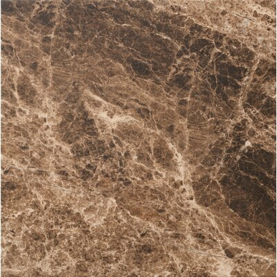 "Marazzi Timeless Collection 12- 15/16"" x 12- 15/16"" Field Tile in Emperador Mocha"