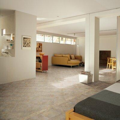 """Marazzi Aida 12"""" x 12"""" Field Tile in Beige Gray"""