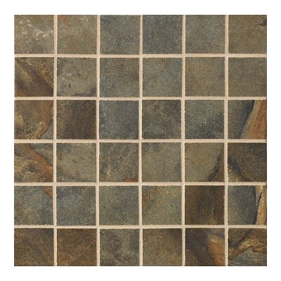 "Marazzi Jade 2"" x 2"" Decorative Square Mosaic in Sage"