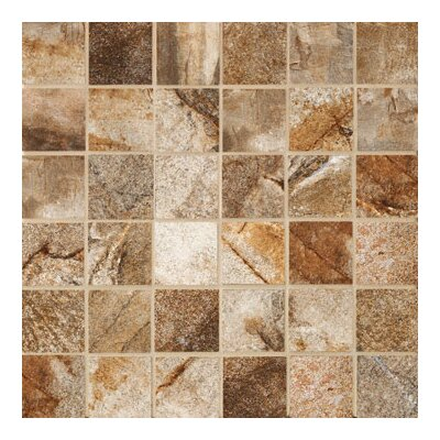"Marazzi Vesale Stone 2"" x 2"" Decorative Square Mosaic in Rust"