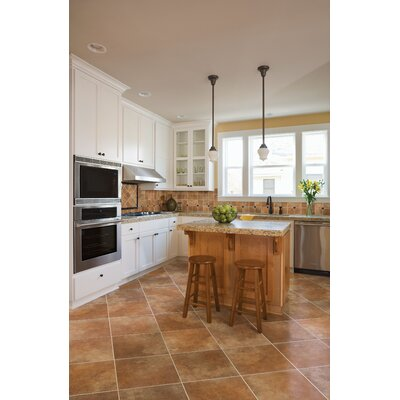 "Marazzi Stone Age 12"" x 12"" Glazed Ceramic Field Tile in Lava River"