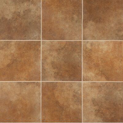 "Marazzi Stone Age 18"" x 18"" Glazed Ceramic Field Tile in Lava River"