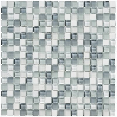 Crystal Stone II Glass Square Mosaic in Pearl