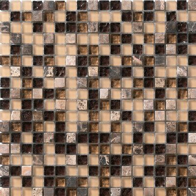 Marazzi Crystal Stone Glass/Stone Mosaic in Coffee
