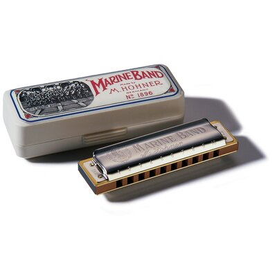 Hohner Marine Band Natural Minor Harmonica in Chrome - Key of G