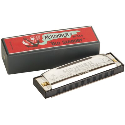 Hohner Old Standby Harmonica in Chrome - Key of Bb