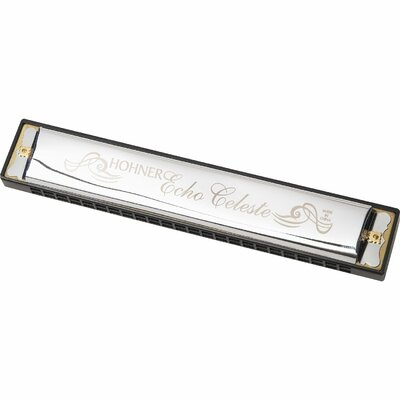 Hohner Echo Celeste Harmonica in Chrome - Key of A